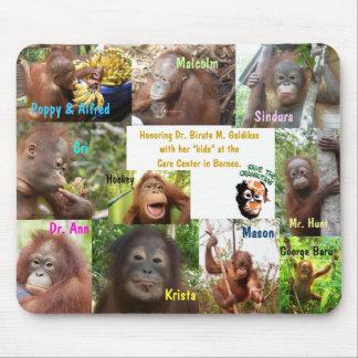 Save Orangutans Endangered Species Wildlife Mouse Mat