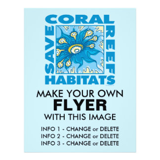 Save Our Coral Reefs Flyers