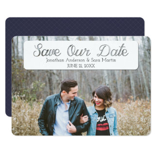 Save Our Date Cut Out Text Overlay Photo 13 Cm X 18 Cm Invitation Card