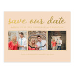Save our Date Gold Script Typography Photo