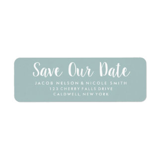 Save Our Date Labels
