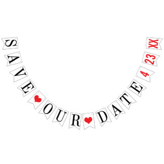 SAVE OUR DATE: PERSONALIZED WEDDING DATE BUNTING
