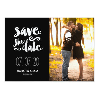 Save Our Date | Photo Save the Date Card 13 Cm X 18 Cm Invitation Card