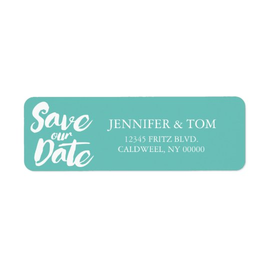 Save Our Date Return Address Labels | WEDDINGS