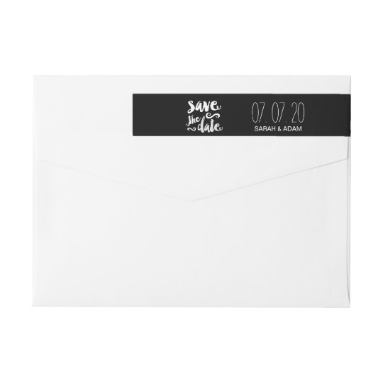 Save Our Date | Save the Date Wraparound Labels Wraparound Return Address Label