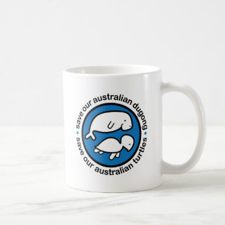 Save our dugong & turtles coffee mug