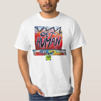 SAVE OUR EARTH GET HUMAN BERLIN WALL By Indiano T-Shirt
