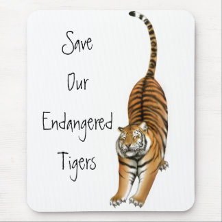 Save Our Endangered Tigers Mousepad