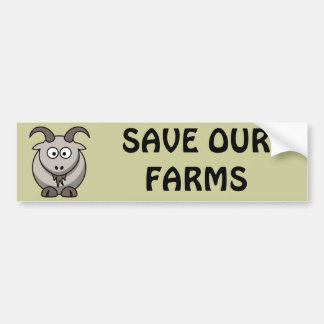 Save Our Farms Goat Bumper Sticker