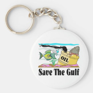 save our gulf basic round button key ring