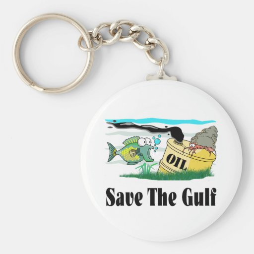 save our gulf key chain
