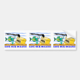 """Save Our Oceans""  Bumper Sticker"