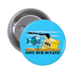Save Our Oceans Earth Day Pinback Buttons