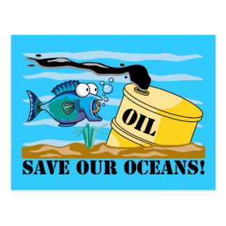 Save Our Oceans Earth Day Postcard