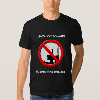 Save Our Oceans No Offshore Drilling Mens Black T Tshirt