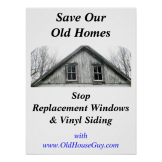 Save Our Old Homes poster
