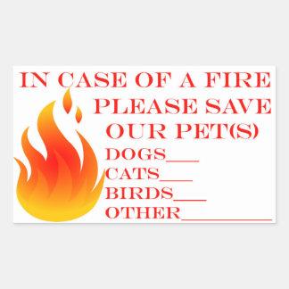 Save our Pets Rectangular Sticker