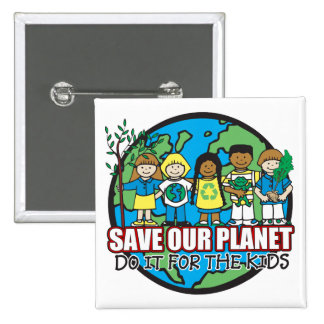 Save Our Planet 15 Cm Square Badge