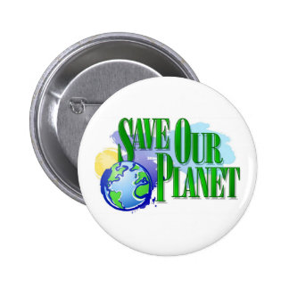 Save our Planet 6 Cm Round Badge