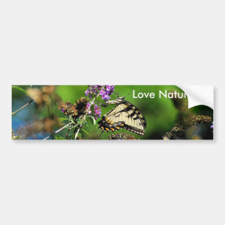Save Our Planet Butterfly bumper sticker