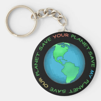 Save Our Planet Design Key Ring