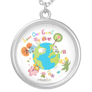 Save Our Planet Earth Pendant Necklace