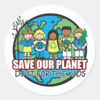 Save Our Planet Round Sticker