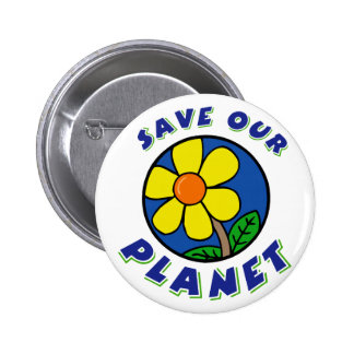 Save Our Planet T-Shirt Gifts 6 Cm Round Badge