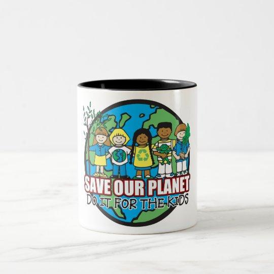 Save Our Planet Two-Tone Coffee Mug