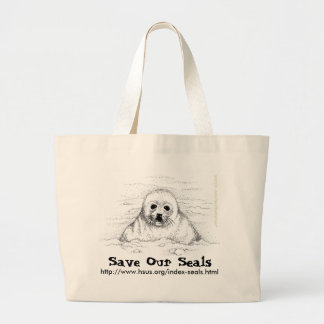 Save Our Seals Large Tote Bag