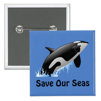 Save Our Seas Whale Button