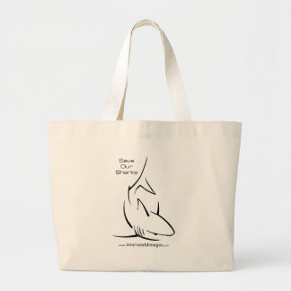 Save Our Sharks Large Tote Bag