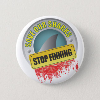 Save Our Sharks Stop Finning 6 Cm Round Badge