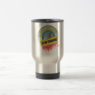 Save Our Sharks Stop Finning Travel Mug