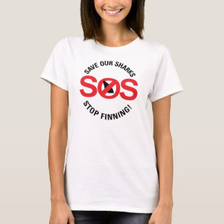 Save Our Sharks Stop Finning Women's Basic T-Shirt
