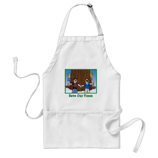 """""""Save Our Trees"""" Aprons"""