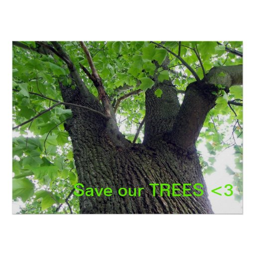 Save our trees print