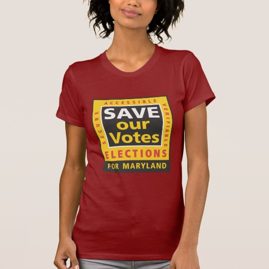 SAVE our Votes square logo, MD colours T-Shirt