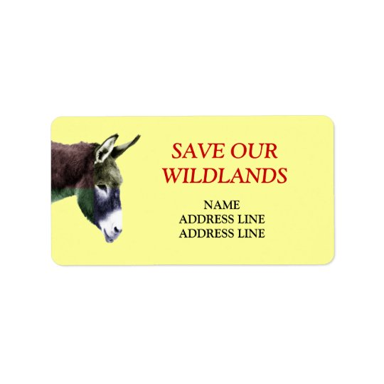 Save Our Wildlands 1 - American Southwest Burro Label