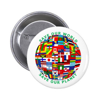 Save Our World 6 Cm Round Badge