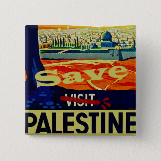 Save Palestine 15 Cm Square Badge