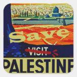 Save Palestine Square Sticker