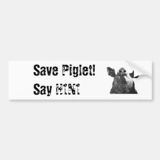 Save Piglet! Say H1N1 Car Bumper Sticker