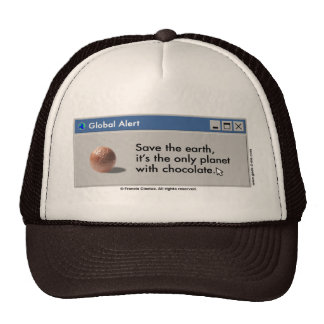 Save Planet Chocolate hat! Cap