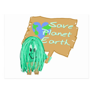 save planet earth postcards
