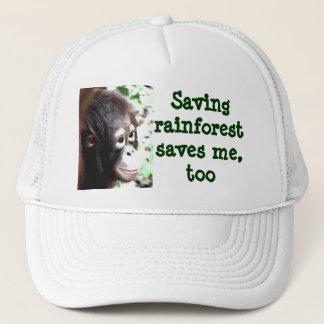 Save Rainforest, Save Wildlife Trucker Hat