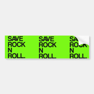 Save Rock N Roll bumper sticker Car Bumper Sticker