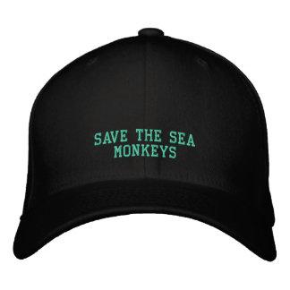SAVE SEA MONKEYS - HAT EMBROIDERED BASEBALL CAPS