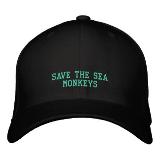 SAVE SEA MONKEYS - HAT EMBROIDERED HATS