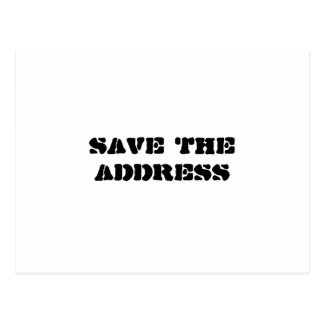 SAVE THE ADDRESS (SAVE THE DATE) BLACK & WHITE POSTCARD